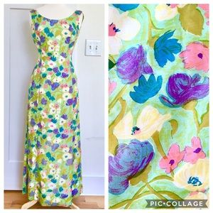 Vintage 60s/70s Homemade Floral Maxi Dress
